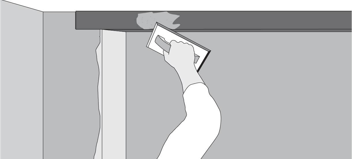 aplicar pasta muro con la llana y espátula