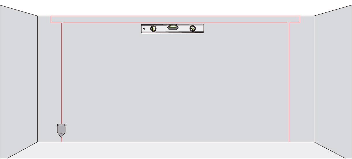 comprobar con la plomada que las líneas verticales estén alineadas