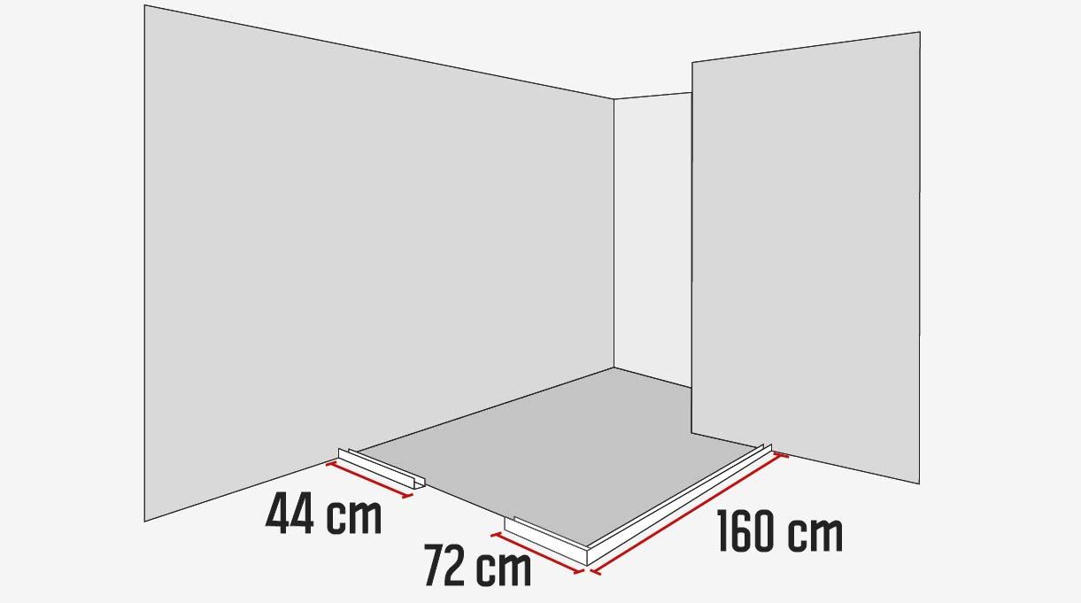 3 perfiles U de 160, 72 y 40 cm