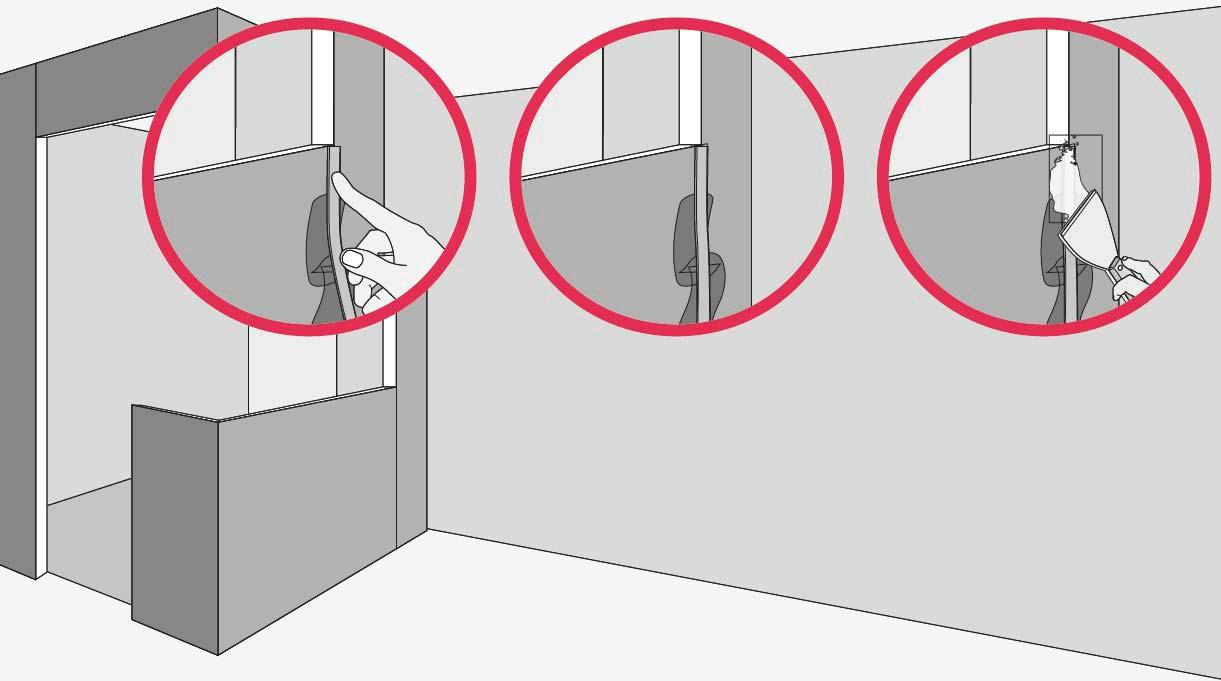 Esconde el encuentro entre las planchas con cinta para junturas y pasta Junta Plac