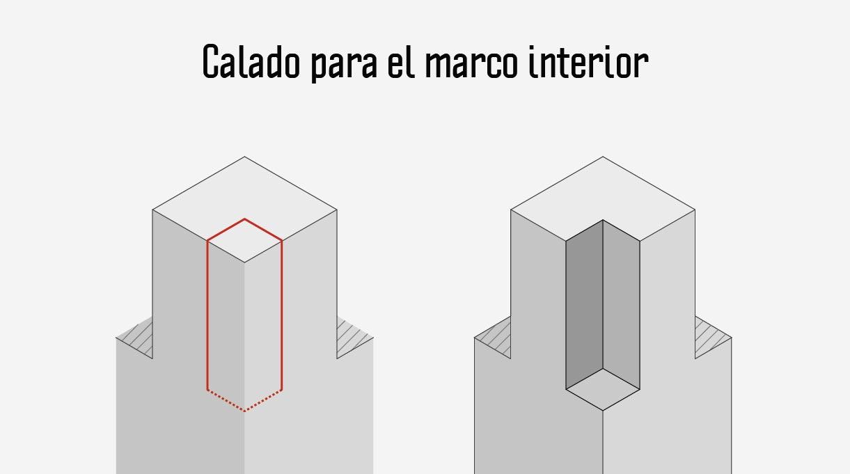 calado para el marco interior