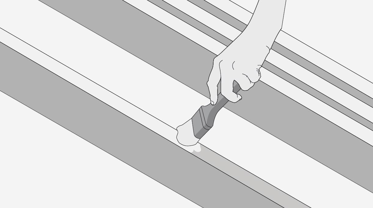 Proteger las tablas con impregnante para madera