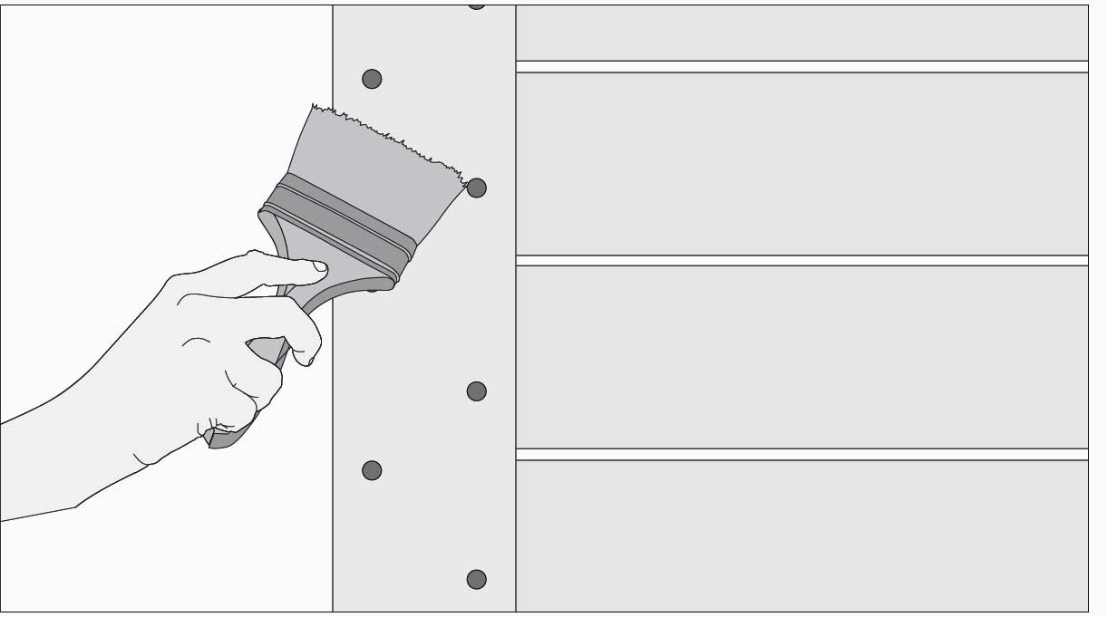 Aplicar sellador para madera a la piroxilina en el deck y dejar secar