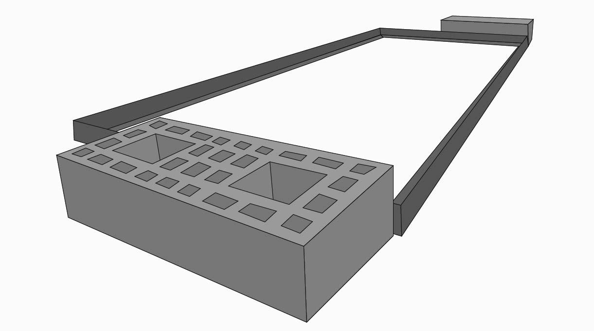 Es aconsejable poner en el suelo la parrilla que usaremos para marcar su contorno, en este caso 115×50 cm. A su alrededor marcar el ancho de los ladrillos, disponerlos a un centímetro de distancia de la marca de la parrilla para darle holgura.