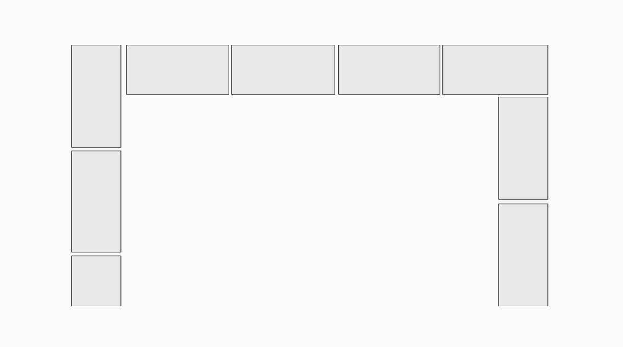 Para continuar con el traslape, las hileras 3, 5, 7, 9 y 11 se formarán de la siguiente manera: en la línea posterior habrá 4 ladrillos enteros desde el borde derecho hacia el izquierdo.  En el costado izquierdo 2 ladrillos enteros apoyados en el fondo y un medio ladrillo en el frente. En el costado derecho dos ladrillos enteros.
