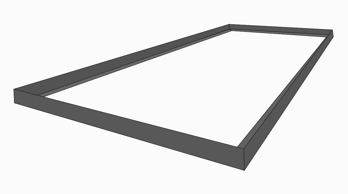 marco de la bandeja para el fuego del quincho
