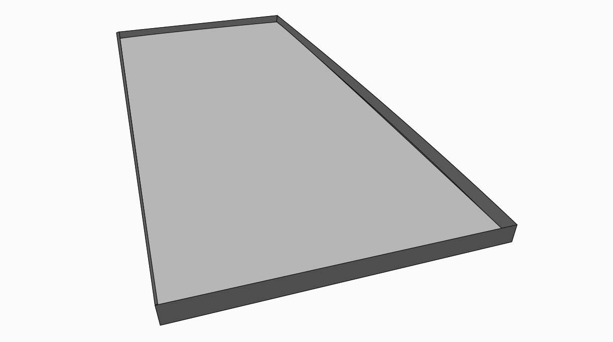Sobre las pletinas va una plancha de acero zincado de 51×114 la que pude ir sobrepuesta o sujeta con remaches pop.