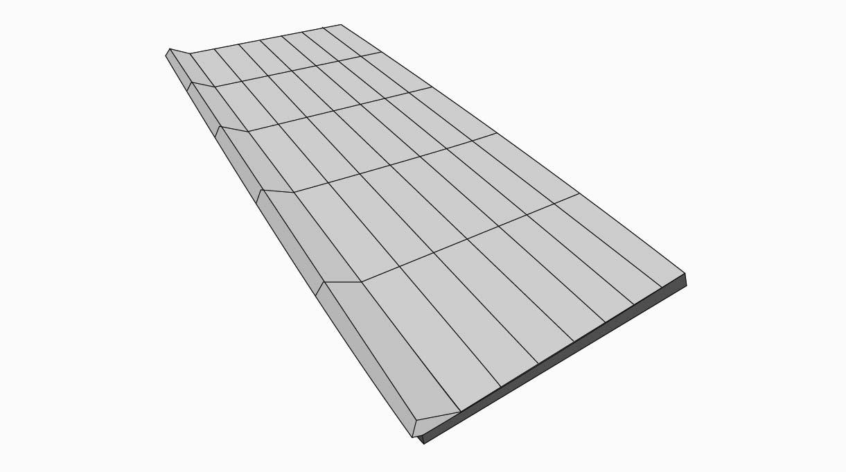 Se disponen los ladrillos refractarios acostados en la bandeja formando 7 hileras.