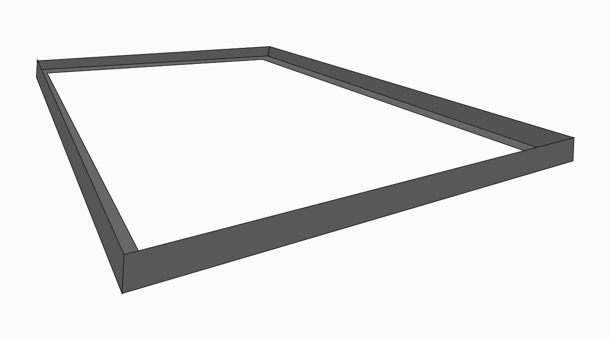 marco de la cubierta de protección del quincho