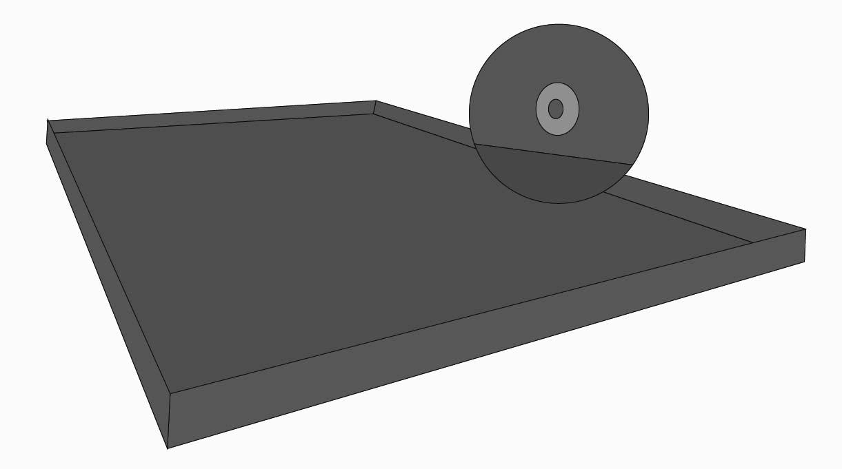 Dentro del marco de la cubierta de protección del quincho se pone una plancha de acero galvanizado de 73×139 cm