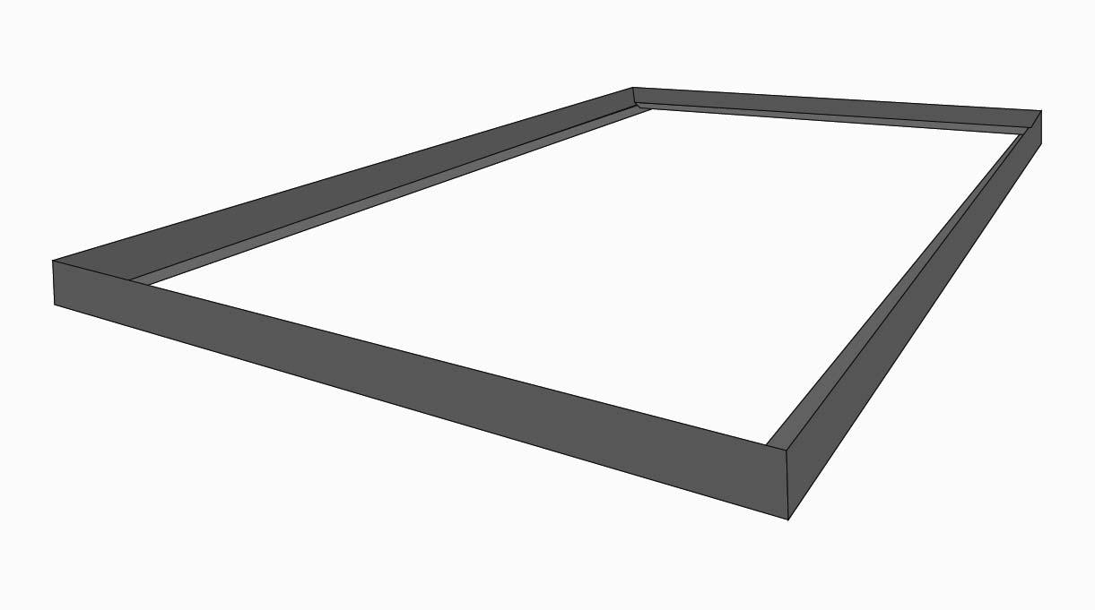 Con dos perfiles ángulo de 50 cm y dos más de 120 cm armar el marco para las puertas del quincho. Las esquinas se cortan en 45° y se unen entre sí con soldadura.