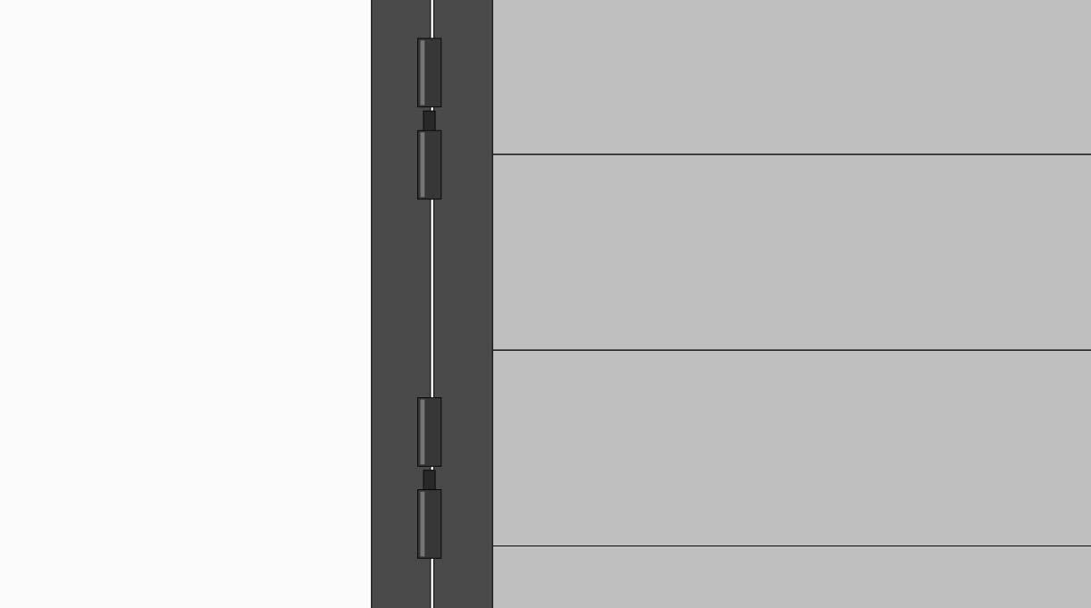 Une las puertas al quincho con pomeles, la idea es ponerlos de tal forma que las puertas se puedan desmontar, así que se ponen ambos hacia el mismo lado.
