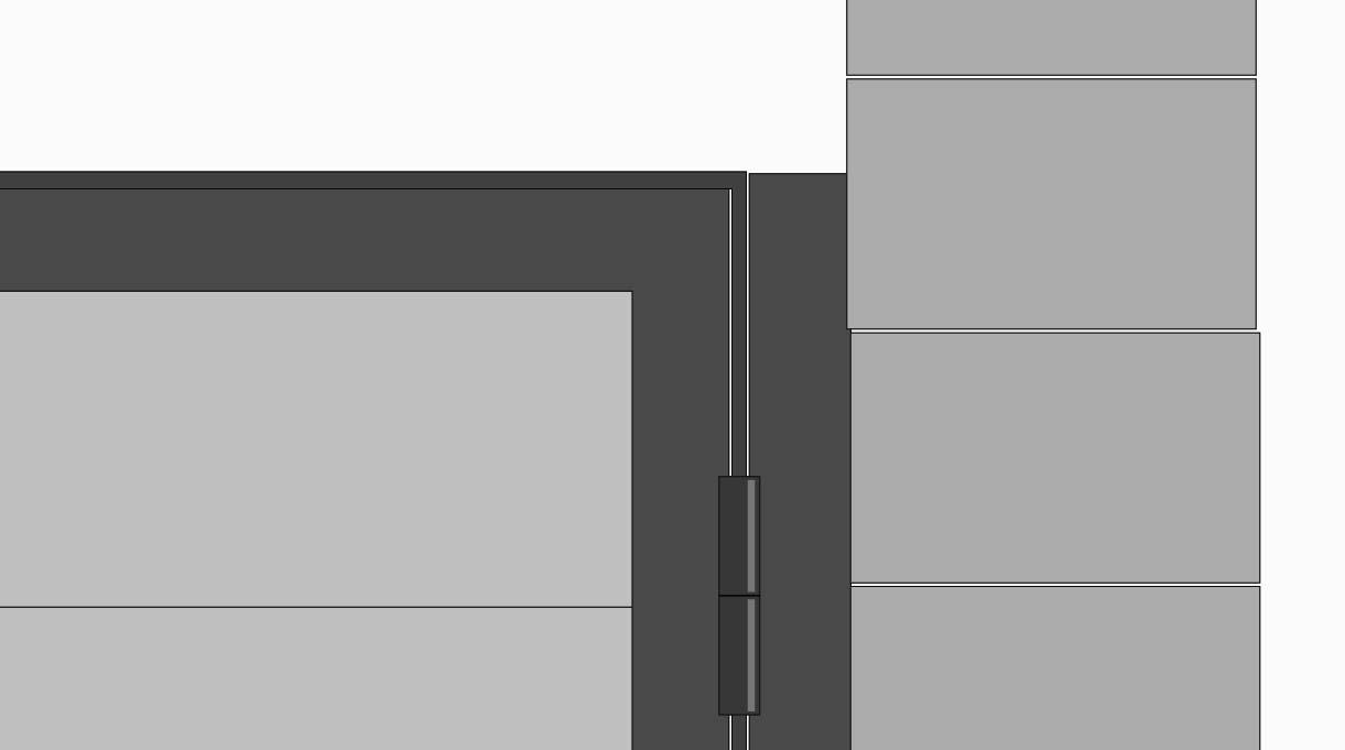 Pone un perfil de 55 cm a cada lado del marco.  Dichos perfiles deben apoyarse en el vértice del ladrillo.