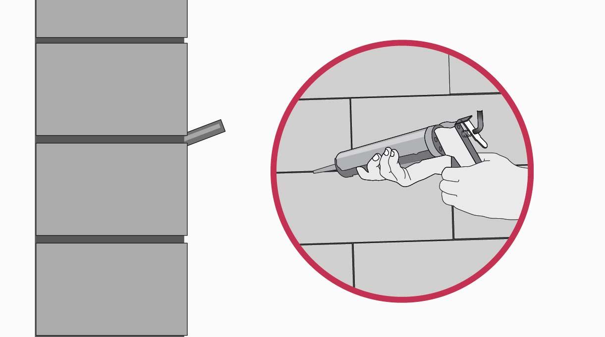 Introducir en el orificio adhesivo de anclaje y embutir un fierro estriado dejando 0.5 cm afuera