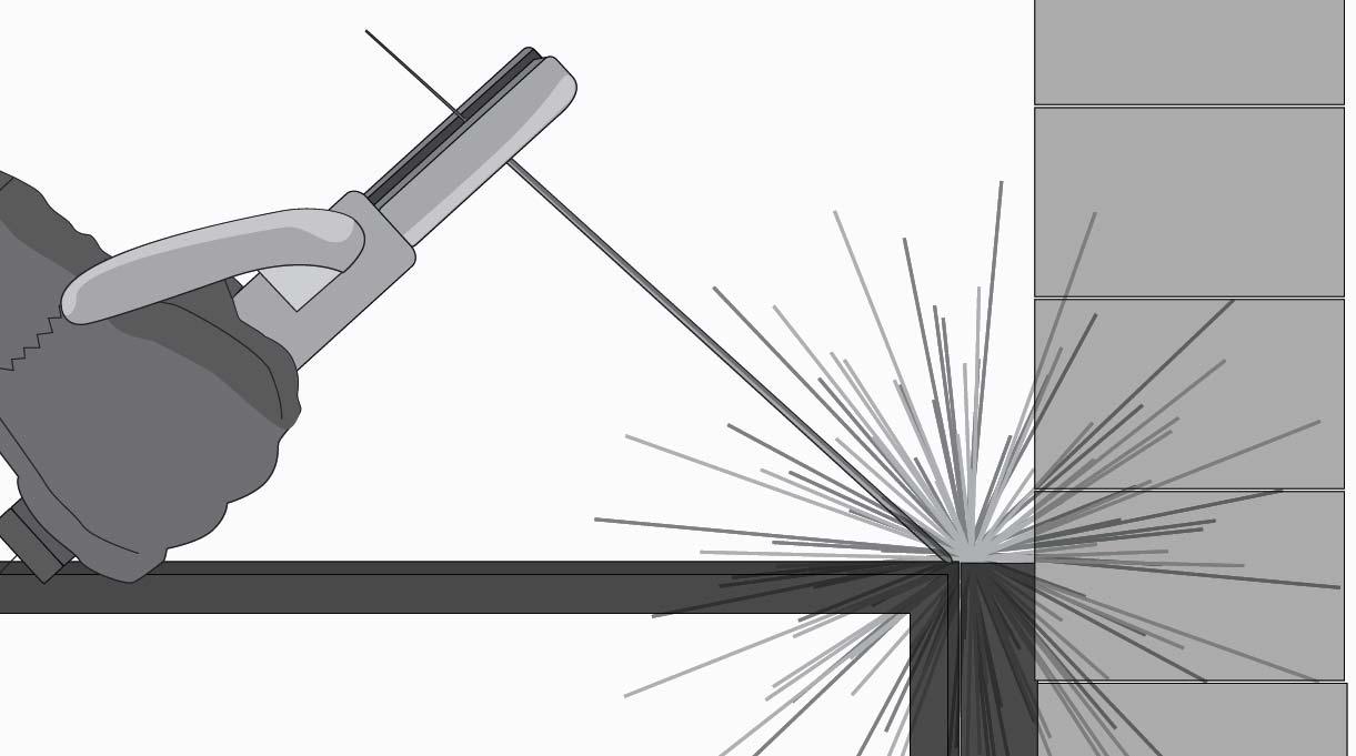 Soldar el fierro estriado al marco.