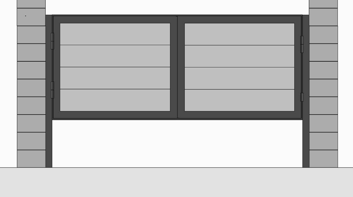 Montar las puertas del quincho en la estructura.