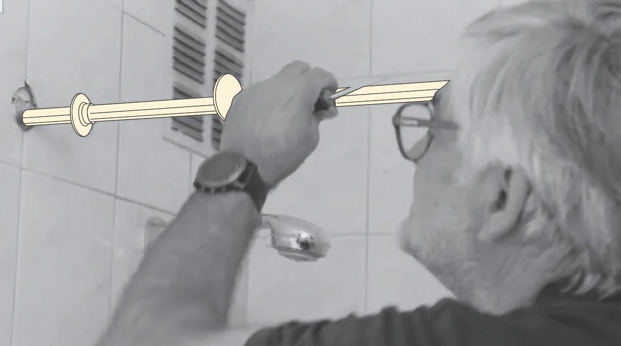 Desmontar barra de la ducha