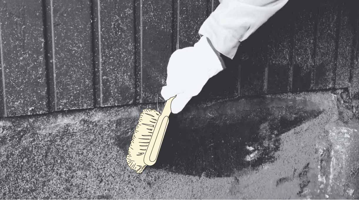 como impermeabilizar un muro - limpieza previa