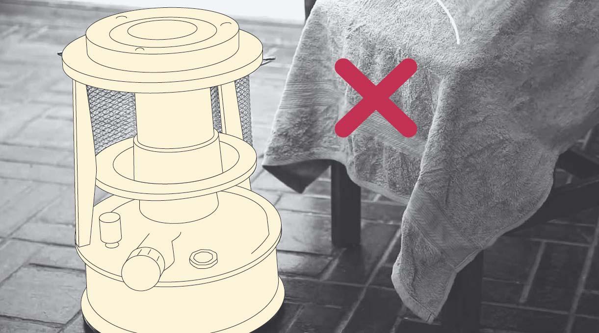alejar la estufa de la ropa