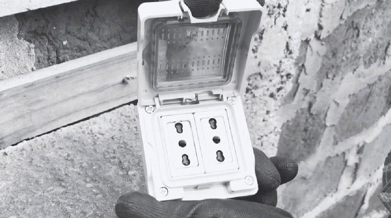 cómo cambiar enchufe exterior - caja 2 enchufes 16 amperes