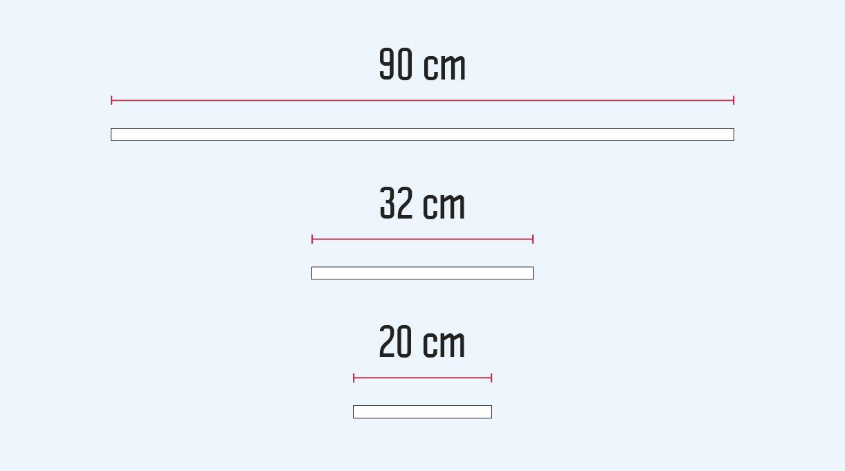 recibidor mueble - medidas de los tubos