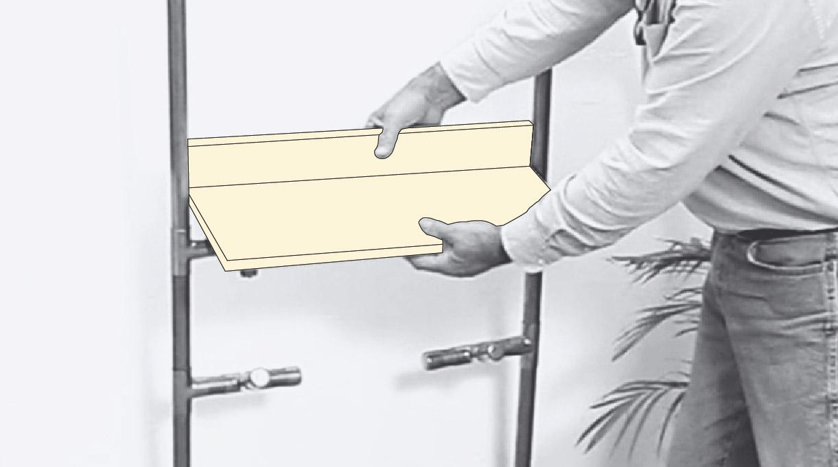 recibidor mueble - INSTALAR LA REPISA