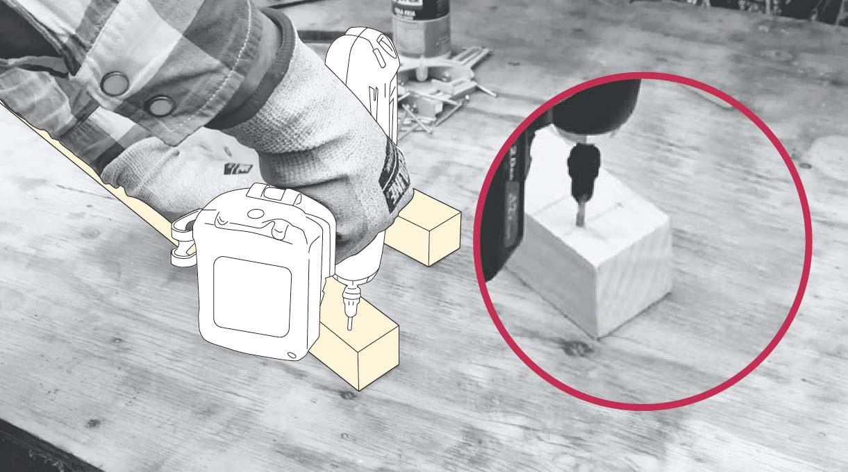 Cómo hacer un invernadero casero - agujeros para tornillos