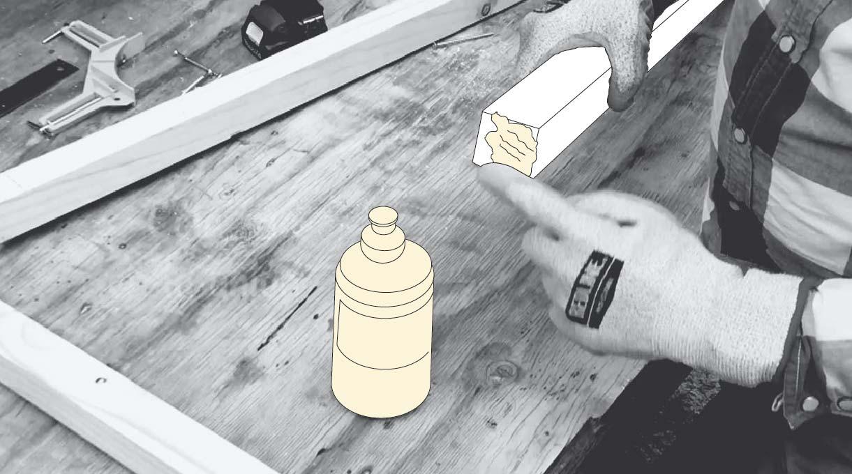 Cómo hacer un invernadero casero - Aplicar cola fría en las uniones