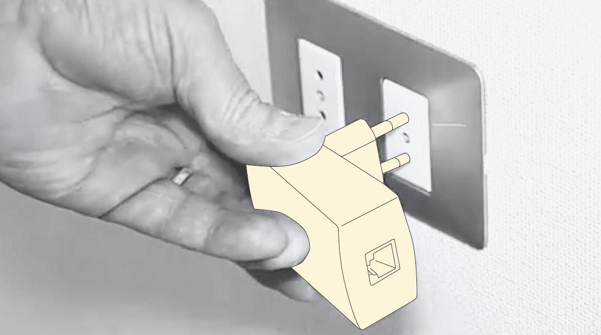 mejorar señal wifi -instalar un extensor powerline