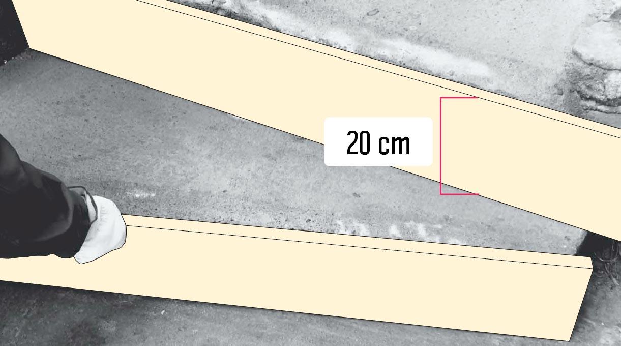 reparar peldaño escalera de cemento -preparar el moldaje