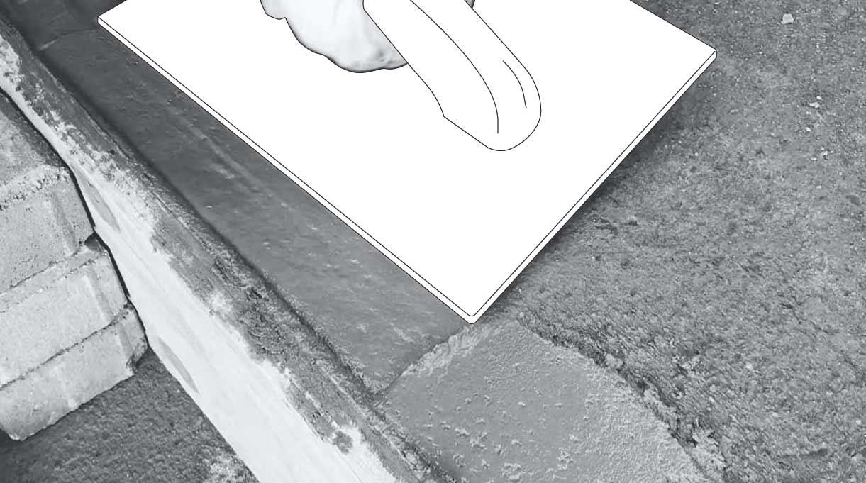 reparar peldaño escalera de cemento - reparar con el mortero
