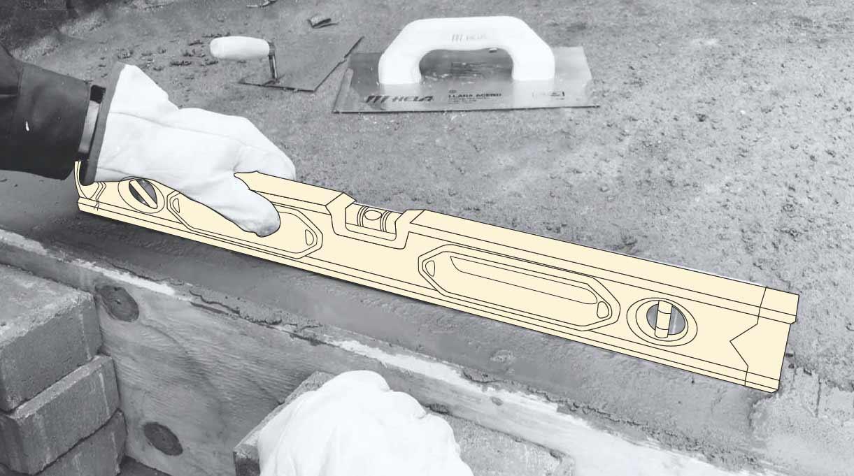 reparar peldaño escalera de cemento - comprobar nivelación