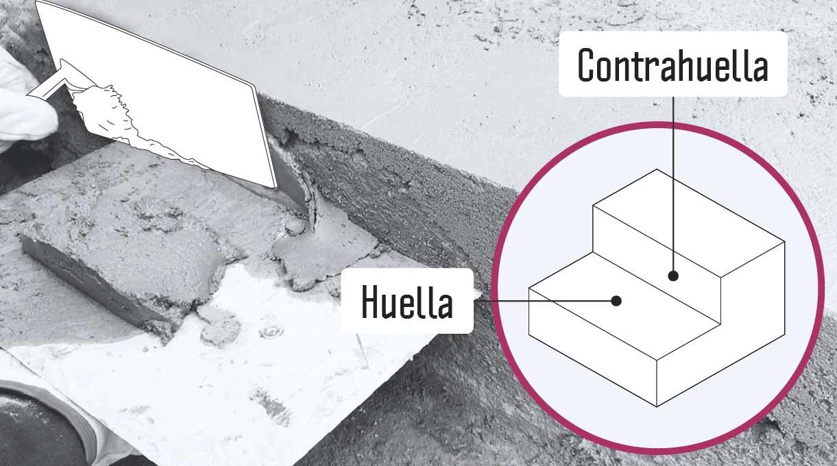 reparar peldaño escalera de cemento - haciendo las terminaciones