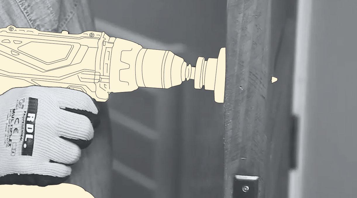 cerradura digital - perforar la parte principal