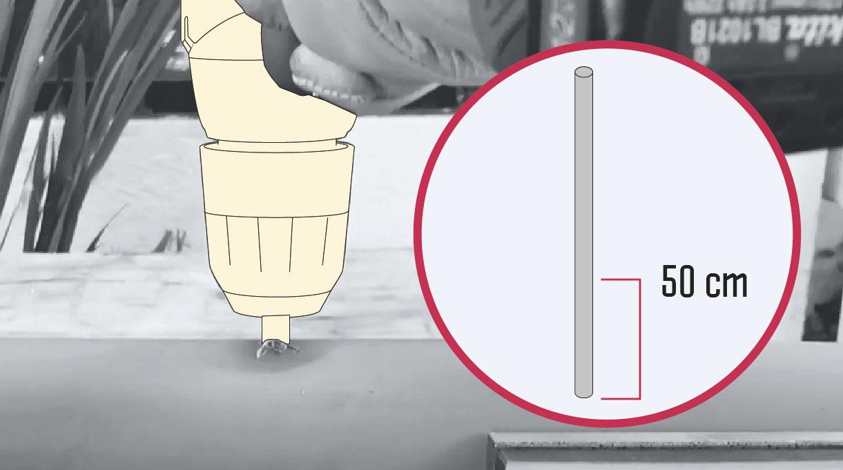 cómo hacer un mástil de bandera - preparar el tubo de PVC
