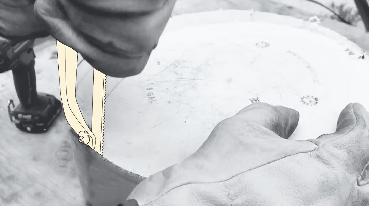 cómo hacer un mástil de bandera - hacer el sobrecimiento