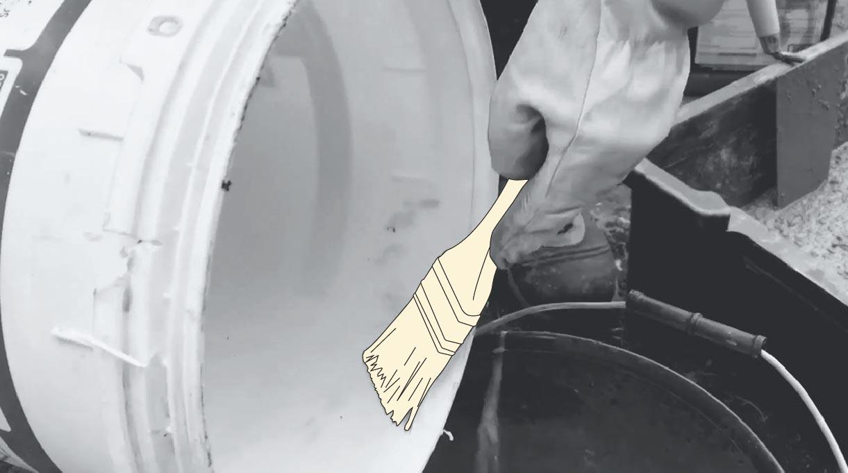 cómo hacer un mástil de bandera - preparar el desmoldante