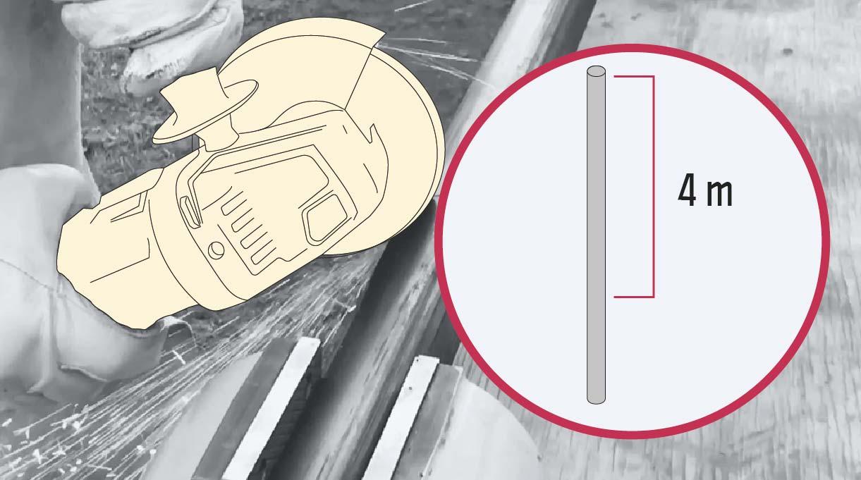 cómo hacer un mástil de bandera - cortar el perfil para el mástil