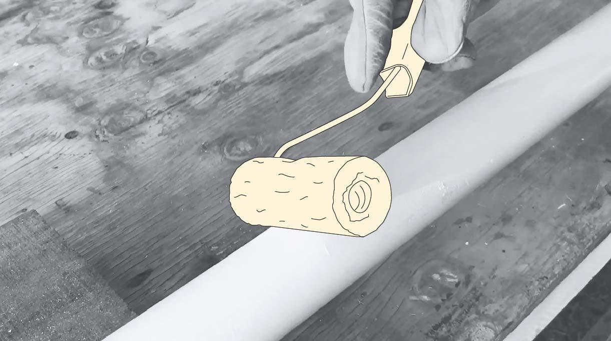 cómo hacer un mástil de bandera - pinta el mástil