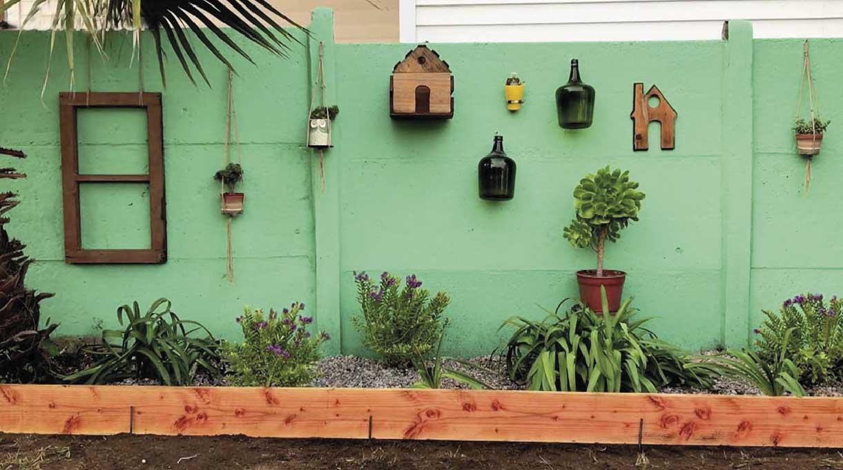 renovar la solera para jardín - añadir detalles decorativos