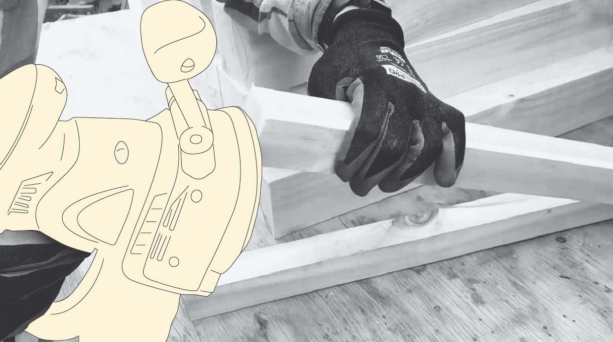 lijar la madera para el sillón