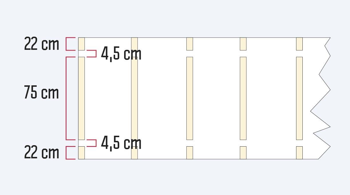 medidas para hacer los bolsillos del toldo para terraza