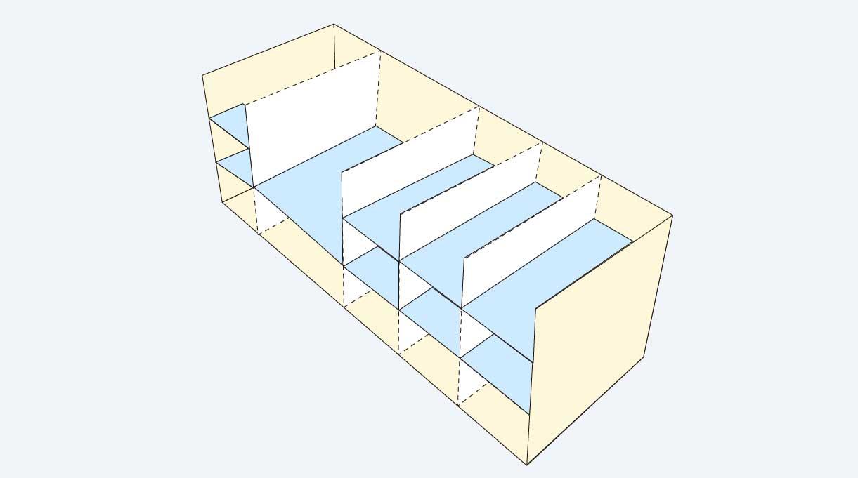 modelo de colocación de las repisas del zapatero