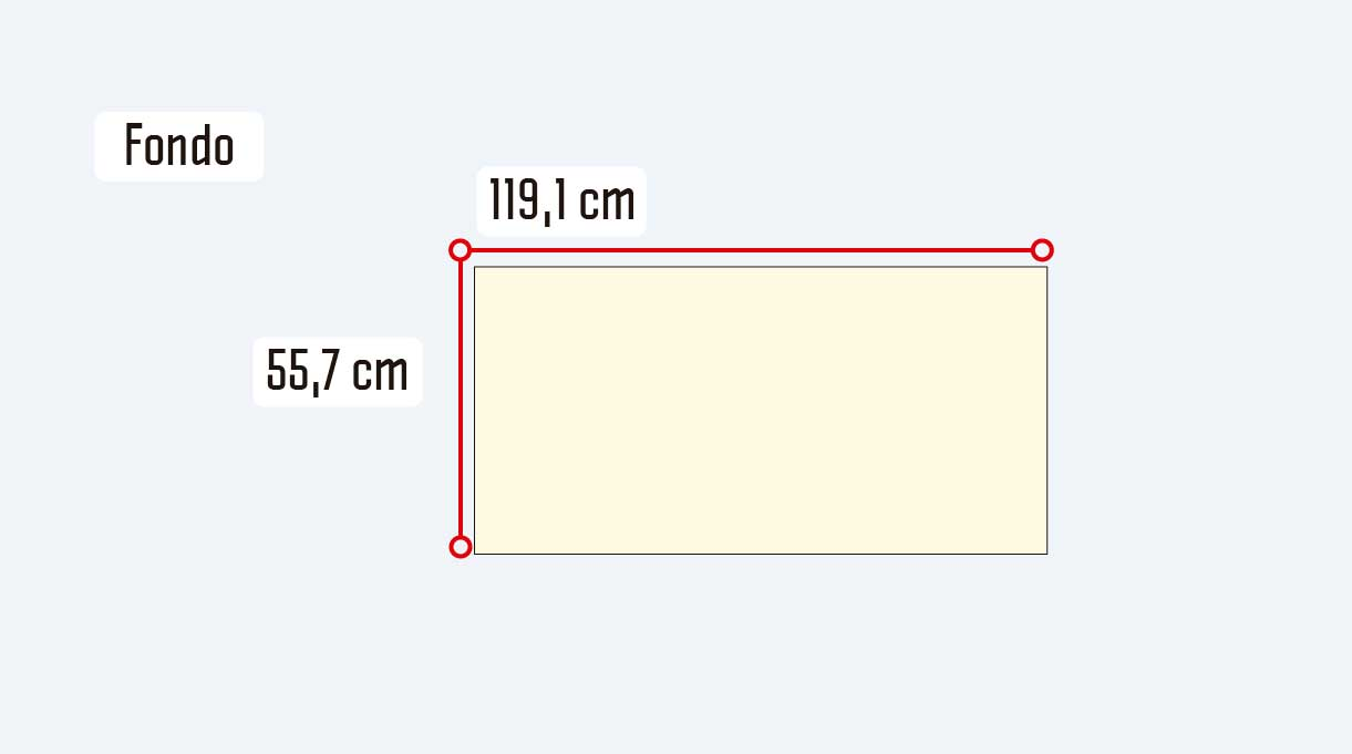 medidas del fondo del mueble para guardar zapatos