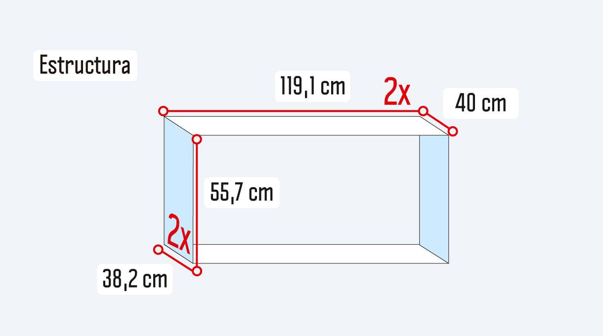 medidas de las planchas de terciado de la estructura