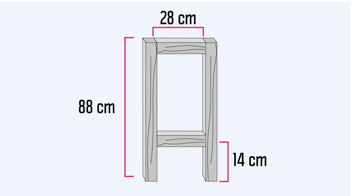 medidas para armar la base de la mesa para cama