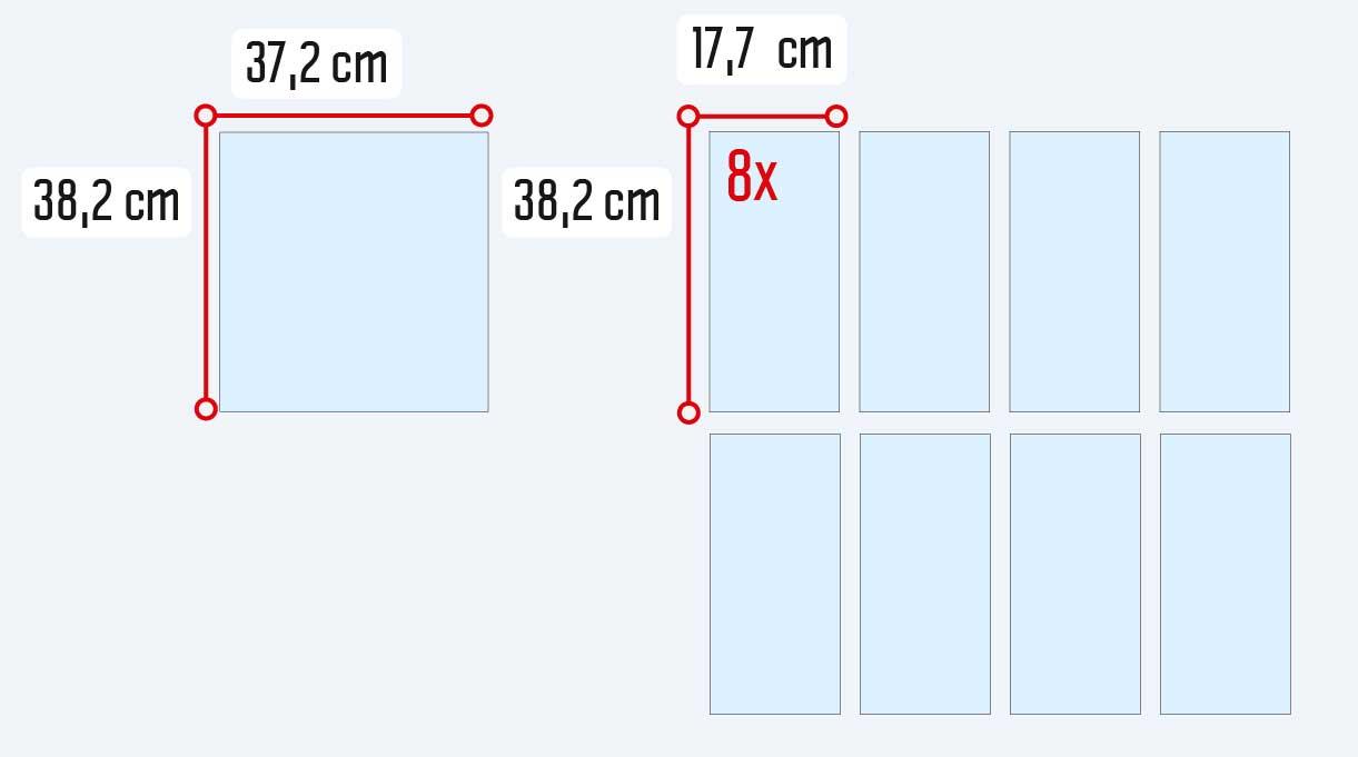 medidas para cortar las repisas del mueble zapatero