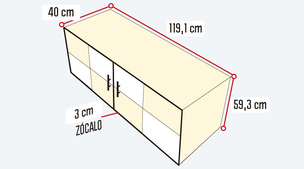 Cómo hacer un mueble para guardar zapatos - medidas