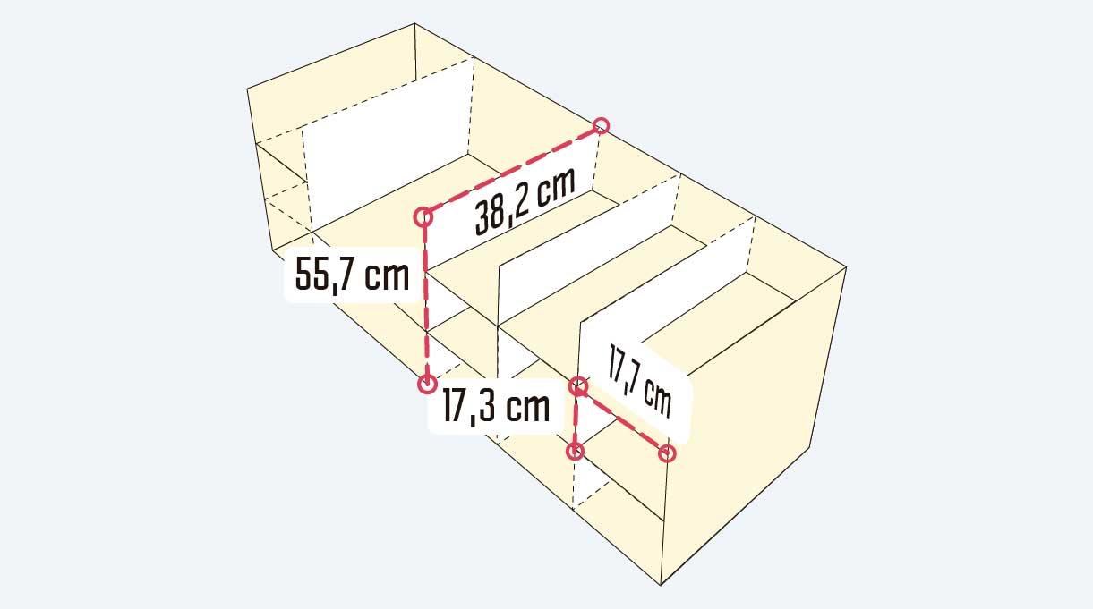 Cómo hacer un mueble para guardar zapatos - medidas interiores