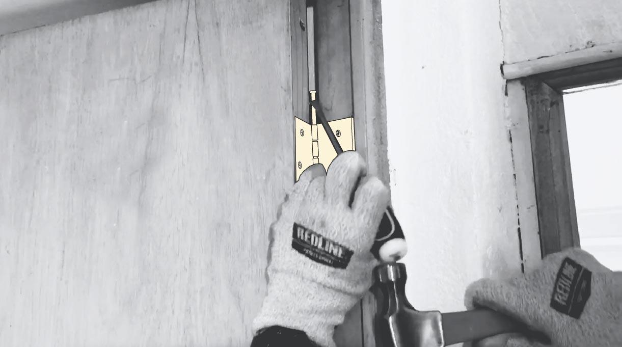 desmontar puerta de interior para pintar